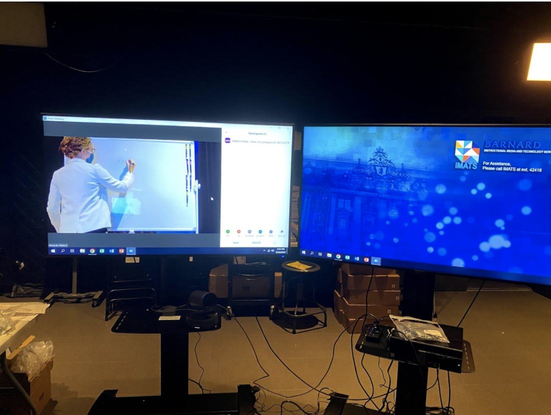 Two monitors in faculty studio