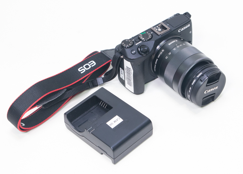 Canon EOS camera with battery charger