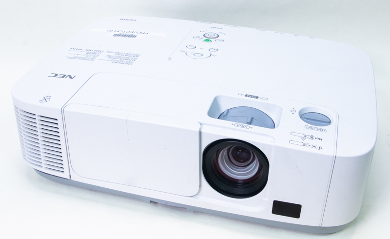 An NEC projector