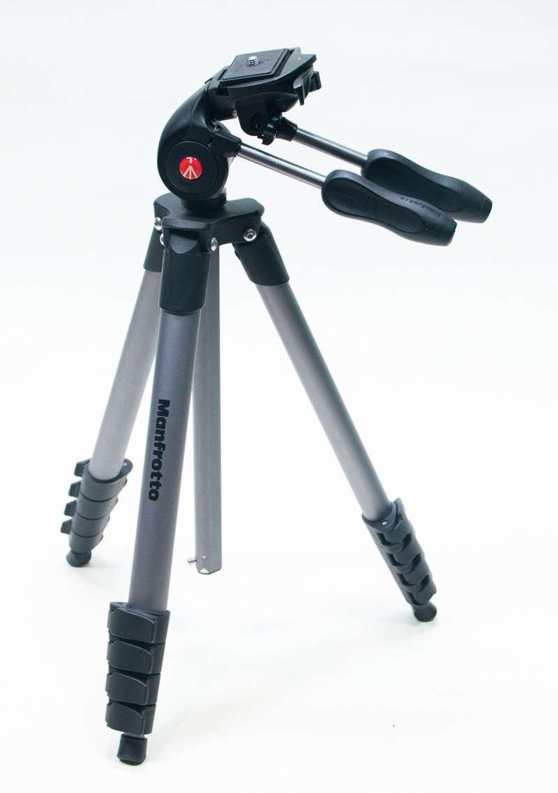 A Manfrotto tripod