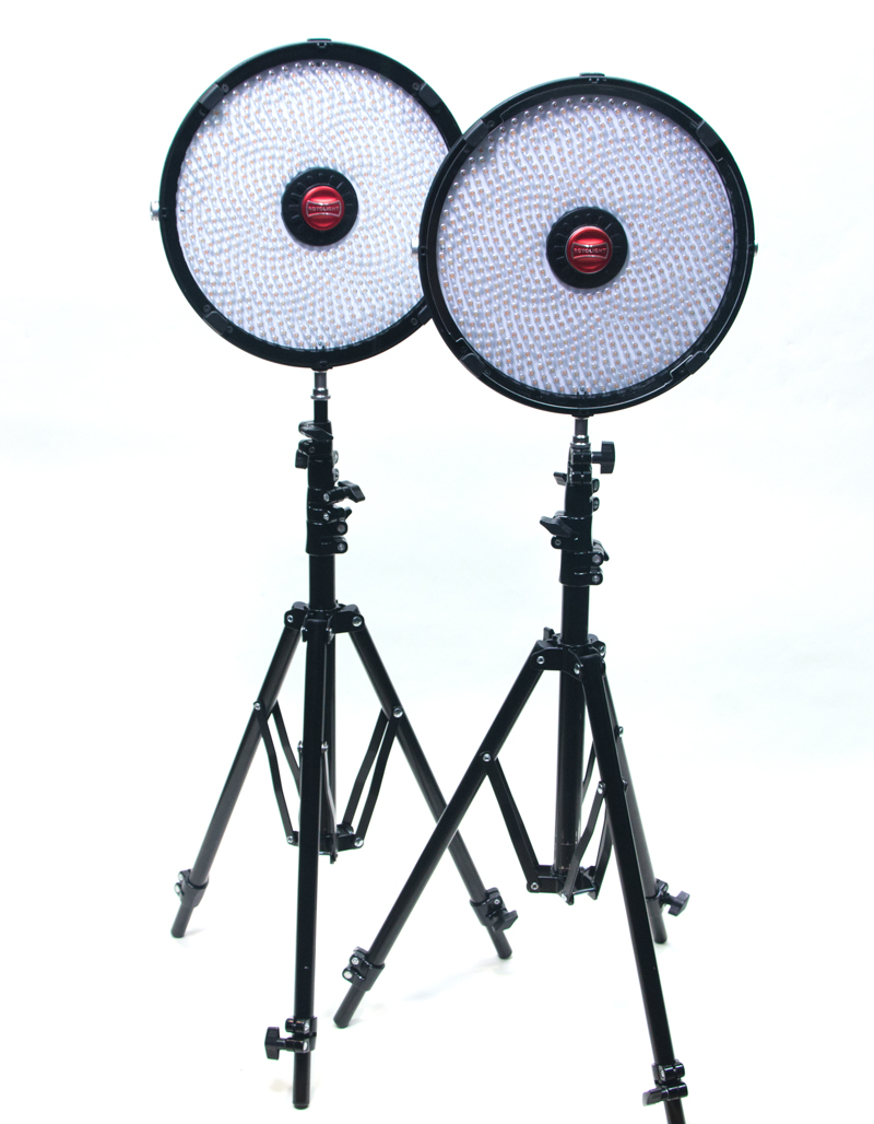 Two standing Rotolights